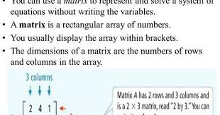 3 6 solving systems using matrices you