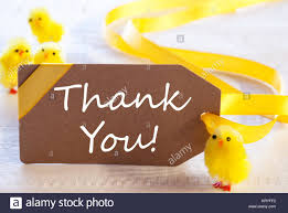 Thank You Easter Label With English Text Thank You Easter Decoration Like
