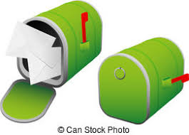 open mailbox. Illustration Of Green Mailbox - Open And Closed