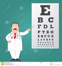 Eye Chart Template Download Optician Doctor With Snellen Eye Chart Doctor Stock Vector