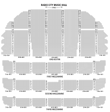 Radio City Music Hall Seating Chart Christmas Spectacular