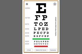 E Chart Test 39 Actual Test Your Vision Eye Chart