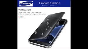 <b>Чехол Samsung</b> S7 Edge <b>Clear Smart Cover</b> - YouTube