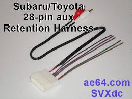 28 pin aux swc retention harness for subaru, scion, and toyota Toyota FJ Trailer Wiring Harness picture of subaru 28 pin aux retention harness