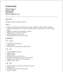 Gallery Of Composer Resume Example Free Templates Collection