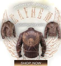 xelement men s premium brown distressed leather jacket with embossed flying skull
