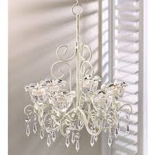 candle holder crystal blooms hanging tealight or votive candle chandelier new