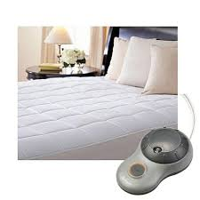 mattress pattern. Sunbeam Premium Quilted Cotton Heated Electric Mattress Pad Box Pattern