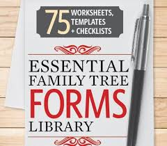 Genealogy Form Templates Last Chance Save 50 On The Essential Family Tree Forms Library Cds