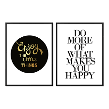 2er Set Design Poster No13 30x40 Cm Typographie Spruch Happy Fun