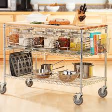 Kitchen Storage Racks Metal Rolling Kitchen Carts Islands And Storage Racks Storables