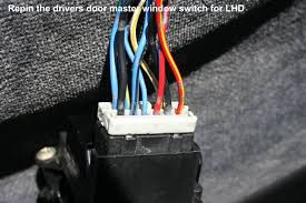diy 92 95 eh eg ej jdm edm lhd power door locks honda tech passenger window switch looking at it from the wire side starting at the left as pin a depin wiring and repin as follows passenger window switch