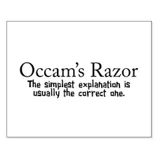 Image result for occams razor