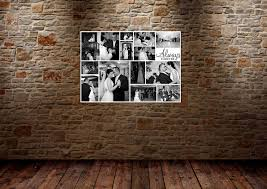 canvas collage idea consisting the series of wedding photo in black and white on wall art printing ideas with canvas collage ideas as wall art homesfeed