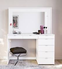 mayumi dressing table in white finish