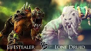 dota 2 lifestealer vs lone druid one click battle youtube