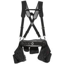 black framer s tool belt with suspenders