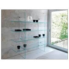 modern glass shelves home design