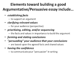 elements of a good argumentative essay elements of an essay writing center brown university