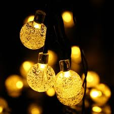 icicle led lights landscape solar string lights globe ball 19 7ft 30 led fairy bubble outdoor garden crystal lights for tree holiday