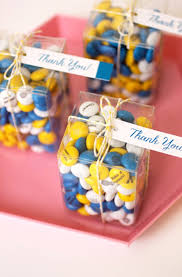 Clear candy box party favor ideas with FREE TAGS via KarasPartyIdeas.com,  My M&M's