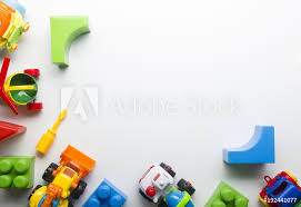 fotografía kids educational developing toys frame on white background europosters es