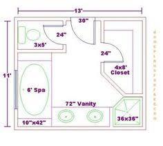 bathroom dimensions. Unique Bathroom Bathroom And Closet Floor Plans   Bathroom Design 11x13 SizeFree  Master Floor Plan With In Dimensions