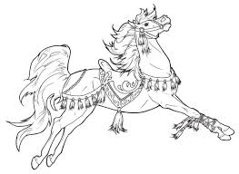 Carousel Horse Coloring Page At Getdrawingscom Free For Personal