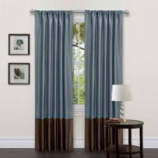 ... Mesmerizing Home Interior With Modern Curtain Ideas : Enchanting Design  Ideas Using Blue Brown Loose Curtains ...