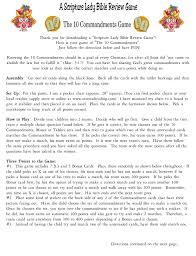 10 Commandments Chart 10 Commandments Inst P1a The Scripture Lady