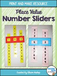 How To Create A Place Value Chart Place Value Sliders Teaching Maths With Meaning