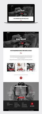 Barber Shop Website Bodes Barbershop Web Design On Behance