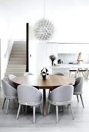 dining wing chair room contemporary with curved back chairs gray upholstered off white
