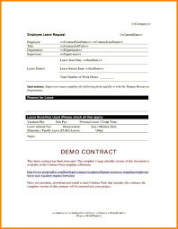 Employee Leave Request Form Application Template Format For School ...