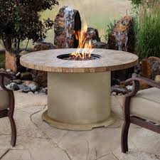 outdoor table covers. Real Flame® Ogden Round Propane Gas Fire Table In Sand Outdoor Covers E