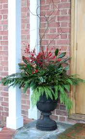 Decorating Front Porch Urns For Christmas 100 best Winter planters images on Pinterest Christmas decor 2