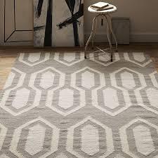 view in gallery geometric dhurrie rug