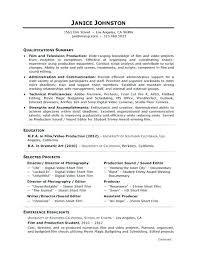 Film Producer Sample Resume Amazing Template For Personal Assistant Movie Cv Homefit