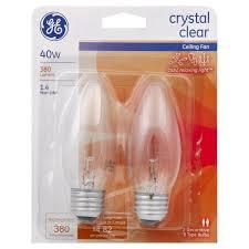 ge light bulbs ceiling fan crystal clear 40 watts