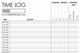 Sample Time Log Template Magnificent Time Log Excel Template Ensign Documentation Template 1