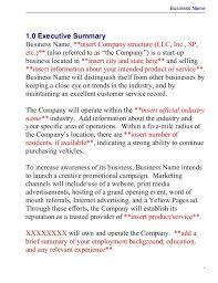 Business Plan Document Template Business Plan Template Master Plans Doc