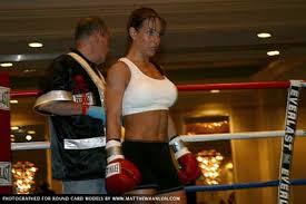 "female-boxing: "" Sharon Gaines (white tank top) ""   Woman boxer ..."