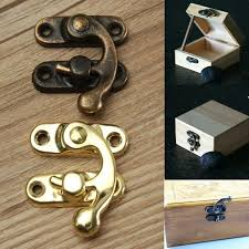 12pcs antique decorative jewelry gift wooden box hasp latch lock with