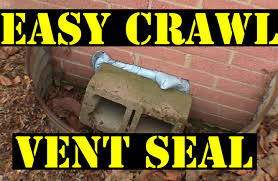 Crawl space vent sealing the easy way! - YouTube