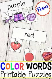 This blue color tracing worksheet will encourage your child if they love the color blue. Printable Color Words Puzzles For Learning Color Words