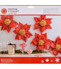 Martha Stewart Paper Flower Martha Stewart Crafts Red Tissue Paper Flower Kit Holiday Lodge