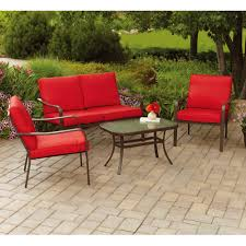 mainstays stanton cushioned piece patio conversation set seats