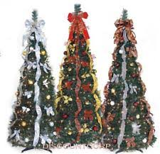 6 FT PULL UP DECORATED & PRE LIT CHRISTMAS TREE 350 LIGHTS NEW