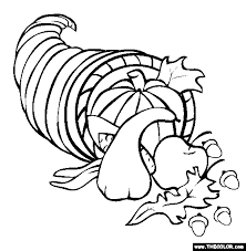 Small Picture Thanksgiving Online Coloring Pages Page 1