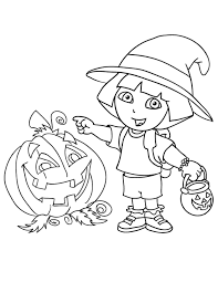 Small Picture Halloween Coloring Pages Dora Cartoon Coloring Pages Dora The